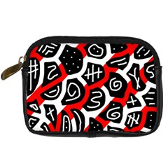 Red playful design Digital Camera Cases
