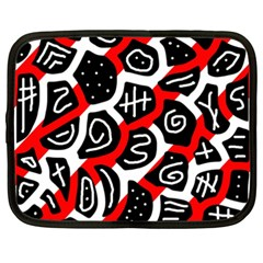 Red playful design Netbook Case (XXL)