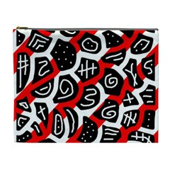 Red playful design Cosmetic Bag (XL)