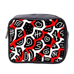 Red playful design Mini Toiletries Bag 2-Side