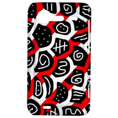 Red playful design HTC Incredible S Hardshell Case