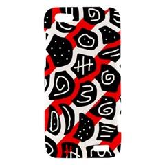 Red playful design HTC One V Hardshell Case