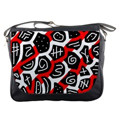 Red playful design Messenger Bags