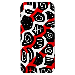 Red playful design Apple iPhone 5 Hardshell Case