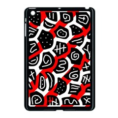 Red playful design Apple iPad Mini Case (Black)