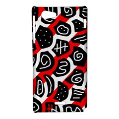 Red playful design Sony Xperia J