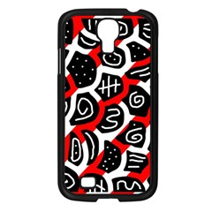 Red playful design Samsung Galaxy S4 I9500/ I9505 Case (Black)