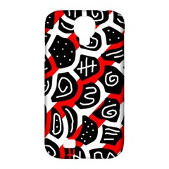 Red playful design Samsung Galaxy S4 Classic Hardshell Case (PC+Silicone)