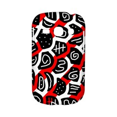 Red playful design Samsung Galaxy S6810 Hardshell Case