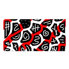 Red playful design Satin Shawl