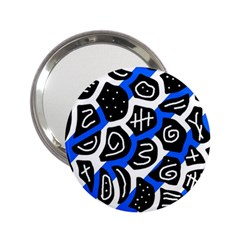 Blue playful design 2.25  Handbag Mirrors