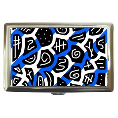 Blue playful design Cigarette Money Cases