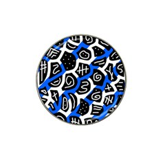 Blue playful design Hat Clip Ball Marker (10 pack)