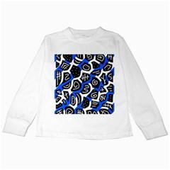 Blue playful design Kids Long Sleeve T-Shirts