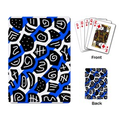 Blue playful design Playing Card