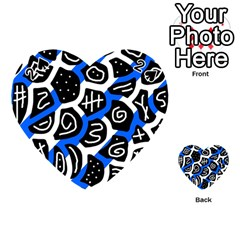 Blue playful design Playing Cards 54 (Heart)