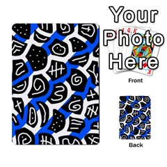 Blue playful design Multi-purpose Cards (Rectangle)
