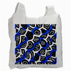 Blue playful design Recycle Bag (Two Side)