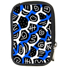 Blue playful design Compact Camera Cases