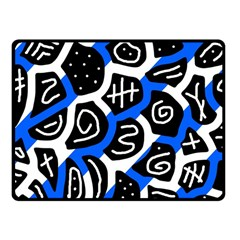 Blue playful design Fleece Blanket (Small)