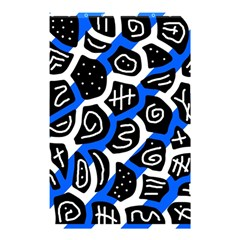 Blue playful design Shower Curtain 48  x 72  (Small)