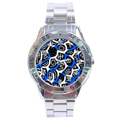 Blue playful design Stainless Steel Analogue Watch