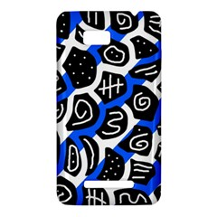 Blue playful design HTC One SU T528W Hardshell Case