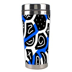 Blue playful design Stainless Steel Travel Tumblers