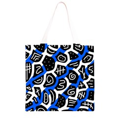 Blue playful design Grocery Light Tote Bag