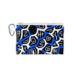 Blue playful design Canvas Cosmetic Bag (S)