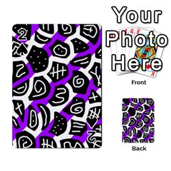 Purple playful design Playing Cards 54 Designs