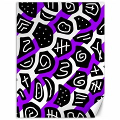 Purple playful design Canvas 36  x 48