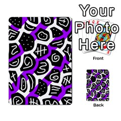Purple playful design Multi-purpose Cards (Rectangle)