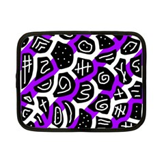 Purple playful design Netbook Case (Small)