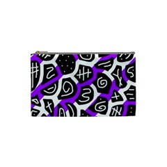 Purple playful design Cosmetic Bag (Small)