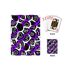 Purple playful design Playing Cards (Mini)