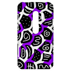 Purple playful design HTC Evo 3D Hardshell Case