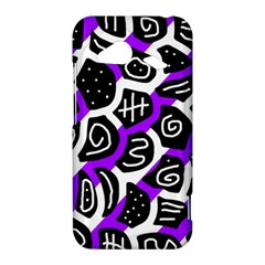 Purple playful design HTC Droid Incredible 4G LTE Hardshell Case