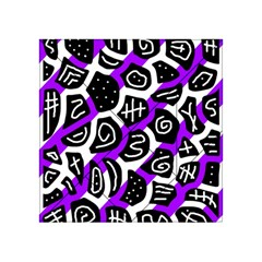 Purple playful design Acrylic Tangram Puzzle (4  x 4 )
