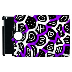 Purple playful design Apple iPad 2 Flip 360 Case
