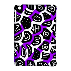 Purple playful design Apple iPad Mini Hardshell Case (Compatible with Smart Cover)