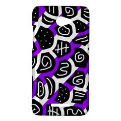 Purple playful design HTC Butterfly X920E Hardshell Case