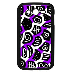 Purple playful design Samsung Galaxy Grand DUOS I9082 Case (Black)