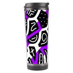 Purple playful design Travel Tumbler