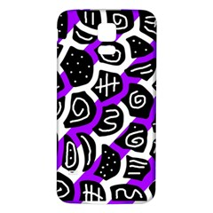 Purple playful design Samsung Galaxy S5 Back Case (White)