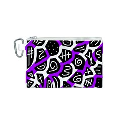 Purple playful design Canvas Cosmetic Bag (S)