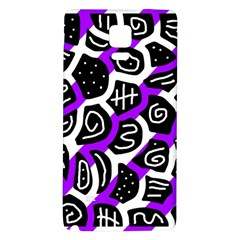 Purple playful design Galaxy Note 4 Back Case