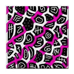 Magenta playful design Tile Coasters