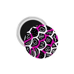 Magenta playful design 1.75  Magnets