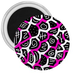 Magenta playful design 3  Magnets